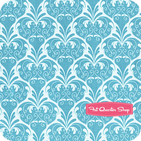 Blue Carriage Damask