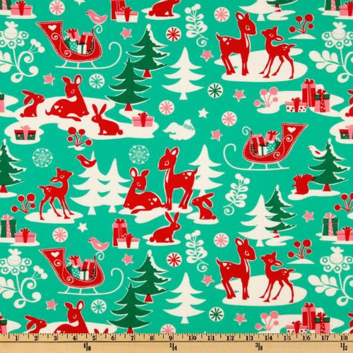 Holiday Yule Critters Aqua