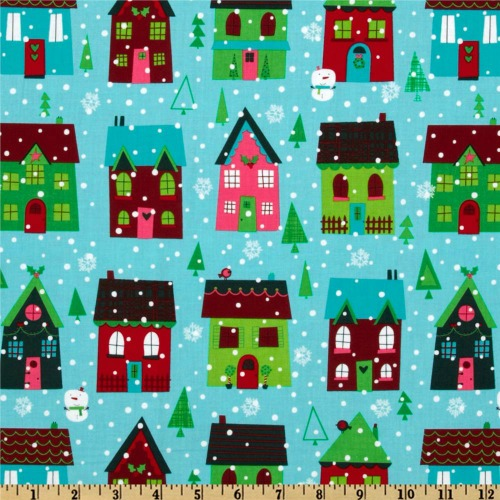 O' Tinsel Tree Snowy Houses